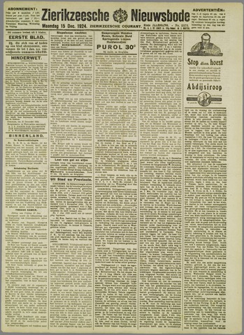 Zierikzeesche Nieuwsbode 1924-12-15