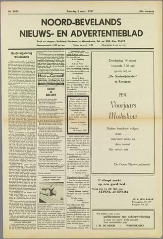 Noord-Bevelands Nieuws- en advertentieblad 1957-03-02