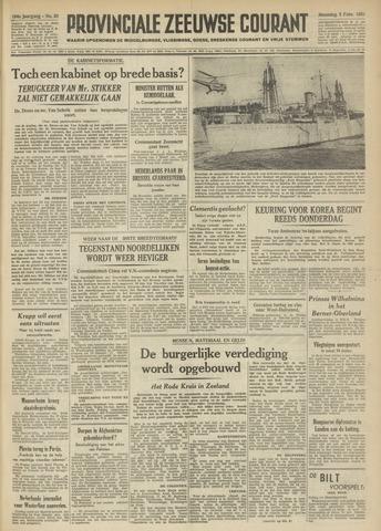 Provinciale Zeeuwse Courant 1951-02-05