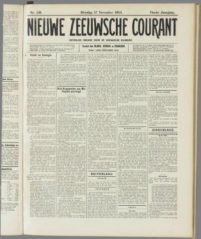 Nieuwe Zeeuwsche Courant 1908-11-17