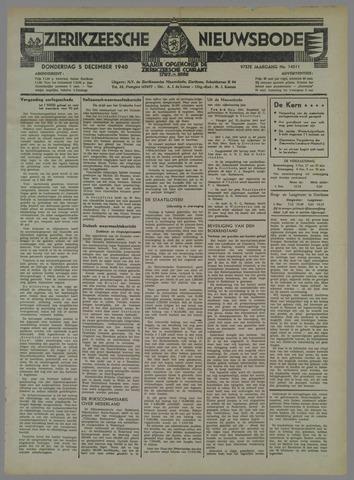 Zierikzeesche Nieuwsbode 1940-12-05