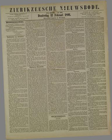 Zierikzeesche Nieuwsbode 1891-02-12