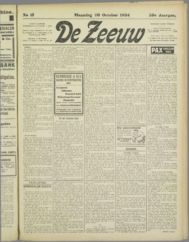 De Zeeuw. Christelijk-historisch nieuwsblad voor Zeeland 1924-10-20