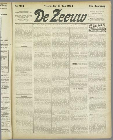 De Zeeuw. Christelijk-historisch nieuwsblad voor Zeeland 1924-07-16