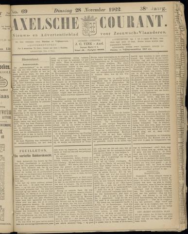 Axelsche Courant 1922-11-28