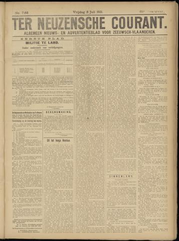 Ter Neuzensche Courant. Algemeen Nieuws- en Advertentieblad voor Zeeuwsch-Vlaanderen / Neuzensche Courant ... (idem) / (Algemeen) nieuws en advertentieblad voor Zeeuwsch-Vlaanderen 1921-07-08