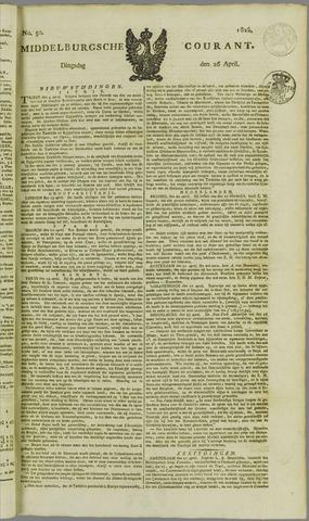 Middelburgsche Courant 1825-04-26