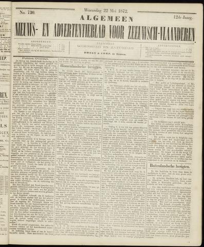 Ter Neuzensche Courant. Algemeen Nieuws- en Advertentieblad voor Zeeuwsch-Vlaanderen / Neuzensche Courant ... (idem) / (Algemeen) nieuws en advertentieblad voor Zeeuwsch-Vlaanderen 1872-05-22
