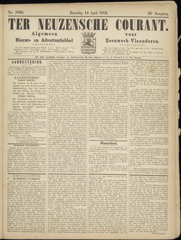 Ter Neuzensche Courant. Algemeen Nieuws- en Advertentieblad voor Zeeuwsch-Vlaanderen / Neuzensche Courant ... (idem) / (Algemeen) nieuws en advertentieblad voor Zeeuwsch-Vlaanderen 1883-04-14
