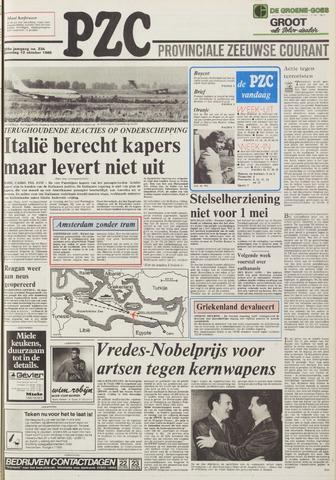 Provinciale Zeeuwse Courant 1985-10-12