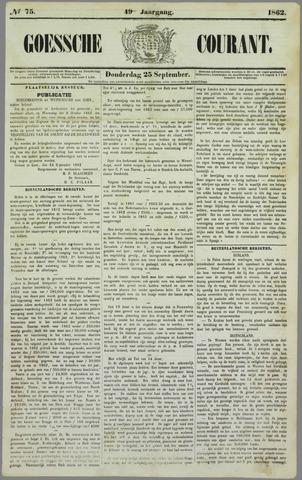 Goessche Courant 1862-09-25