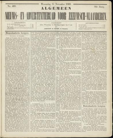 Ter Neuzensche Courant. Algemeen Nieuws- en Advertentieblad voor Zeeuwsch-Vlaanderen / Neuzensche Courant ... (idem) / (Algemeen) nieuws en advertentieblad voor Zeeuwsch-Vlaanderen 1869-11-17