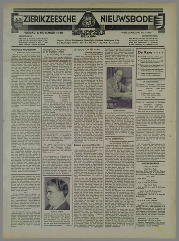 Zierikzeesche Nieuwsbode 1940-11-08