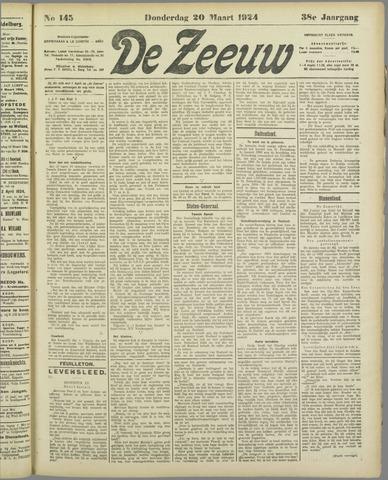 De Zeeuw. Christelijk-historisch nieuwsblad voor Zeeland 1924-03-20