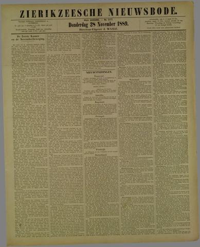 Zierikzeesche Nieuwsbode 1889-11-28