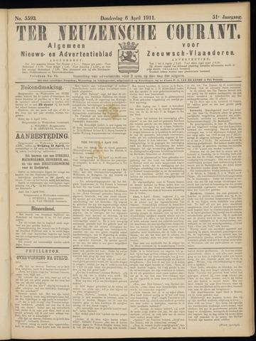 Ter Neuzensche Courant. Algemeen Nieuws- en Advertentieblad voor Zeeuwsch-Vlaanderen / Neuzensche Courant ... (idem) / (Algemeen) nieuws en advertentieblad voor Zeeuwsch-Vlaanderen 1911-04-06