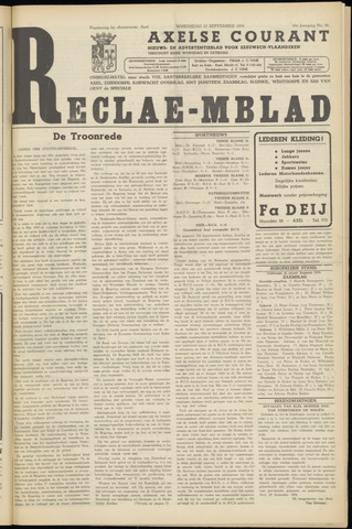 Axelsche Courant 1954-09-22