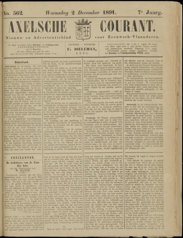 Axelsche Courant 1891-12-02
