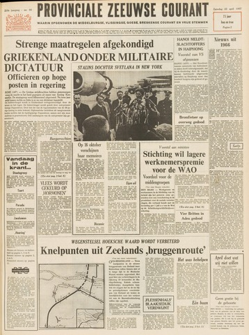 Provinciale Zeeuwse Courant 1967-04-22