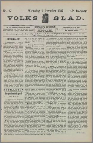 Volksblad 1922-12-06