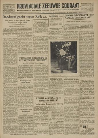 Provinciale Zeeuwse Courant 1949-09-22