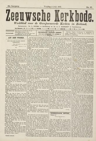Zeeuwsche kerkbode, weekblad gewijd aan de belangen der gereformeerde kerken/ Zeeuwsch kerkblad 1915-07-02