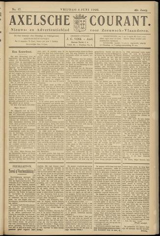 Axelsche Courant 1926-06-04