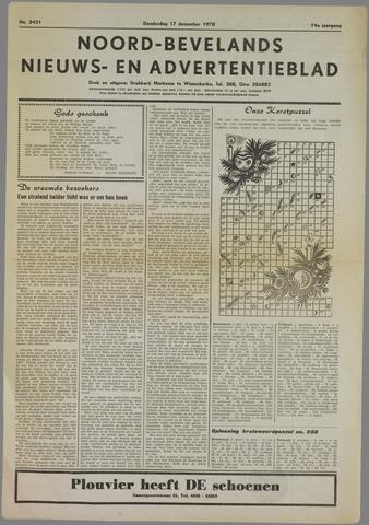 Noord-Bevelands Nieuws- en advertentieblad 1970-12-17