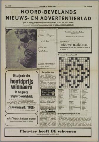 Noord-Bevelands Nieuws- en advertentieblad 1967-01-14