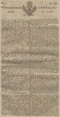 Middelburgsche Courant 1775-01-07
