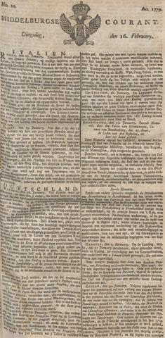Middelburgsche Courant 1779-02-16