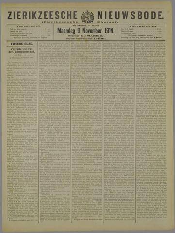 Zierikzeesche Nieuwsbode 1914-11-09