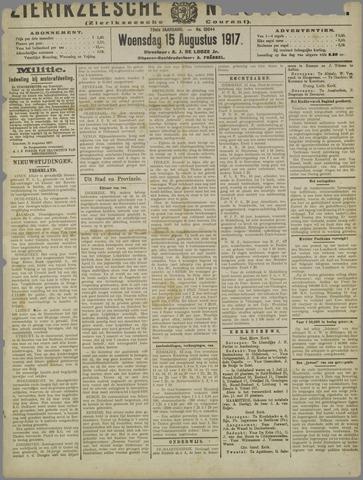 Zierikzeesche Nieuwsbode 1917-08-15