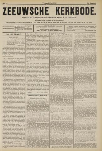 Zeeuwsche kerkbode, weekblad gewijd aan de belangen der gereformeerde kerken/ Zeeuwsch kerkblad 1940-07-19