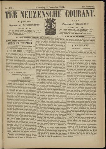 Ter Neuzensche Courant. Algemeen Nieuws- en Advertentieblad voor Zeeuwsch-Vlaanderen / Neuzensche Courant ... (idem) / (Algemeen) nieuws en advertentieblad voor Zeeuwsch-Vlaanderen 1882-12-02