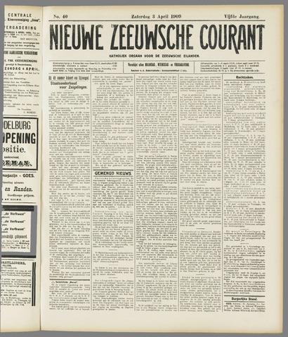 Nieuwe Zeeuwsche Courant 1909-04-03