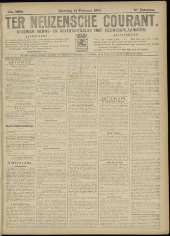 Ter Neuzensche Courant. Algemeen Nieuws- en Advertentieblad voor Zeeuwsch-Vlaanderen / Neuzensche Courant ... (idem) / (Algemeen) nieuws en advertentieblad voor Zeeuwsch-Vlaanderen 1920-02-14