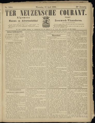 Ter Neuzensche Courant. Algemeen Nieuws- en Advertentieblad voor Zeeuwsch-Vlaanderen / Neuzensche Courant ... (idem) / (Algemeen) nieuws en advertentieblad voor Zeeuwsch-Vlaanderen 1889-04-10