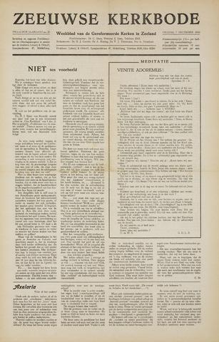 Zeeuwsche kerkbode, weekblad gewijd aan de belangen der gereformeerde kerken/ Zeeuwsch kerkblad 1956-12-07