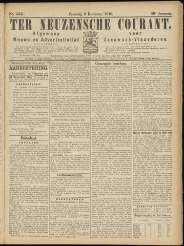Ter Neuzensche Courant. Algemeen Nieuws- en Advertentieblad voor Zeeuwsch-Vlaanderen / Neuzensche Courant ... (idem) / (Algemeen) nieuws en advertentieblad voor Zeeuwsch-Vlaanderen 1910-12-03