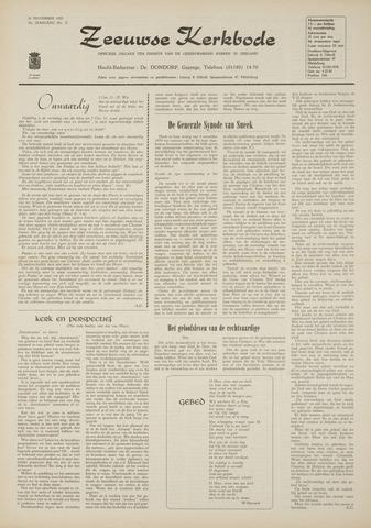 Zeeuwsche kerkbode, weekblad gewijd aan de belangen der gereformeerde kerken/ Zeeuwsch kerkblad 1970-11-26