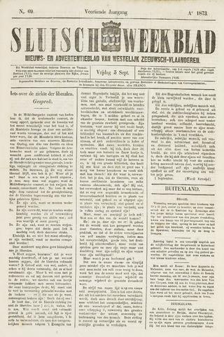 Sluisch Weekblad. Nieuws- en advertentieblad voor Westelijk Zeeuwsch-Vlaanderen 1873-09-05
