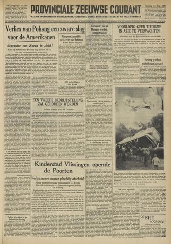 Provinciale Zeeuwse Courant 1950-08-15
