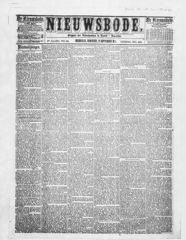 Sheboygan Nieuwsbode 1858-09-21