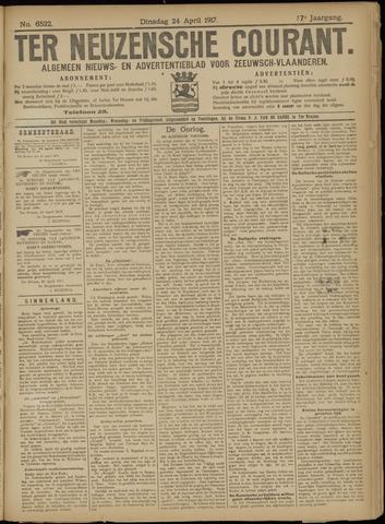 Ter Neuzensche Courant. Algemeen Nieuws- en Advertentieblad voor Zeeuwsch-Vlaanderen / Neuzensche Courant ... (idem) / (Algemeen) nieuws en advertentieblad voor Zeeuwsch-Vlaanderen 1917-04-24