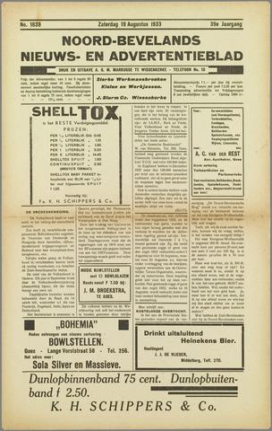 Noord-Bevelands Nieuws- en advertentieblad 1933-08-19