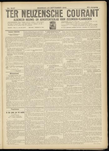 Ter Neuzensche Courant. Algemeen Nieuws- en Advertentieblad voor Zeeuwsch-Vlaanderen / Neuzensche Courant ... (idem) / (Algemeen) nieuws en advertentieblad voor Zeeuwsch-Vlaanderen 1940-09-23
