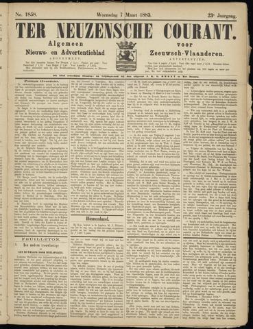 Ter Neuzensche Courant. Algemeen Nieuws- en Advertentieblad voor Zeeuwsch-Vlaanderen / Neuzensche Courant ... (idem) / (Algemeen) nieuws en advertentieblad voor Zeeuwsch-Vlaanderen 1883-03-07