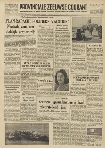 Provinciale Zeeuwse Courant 1958-04-15