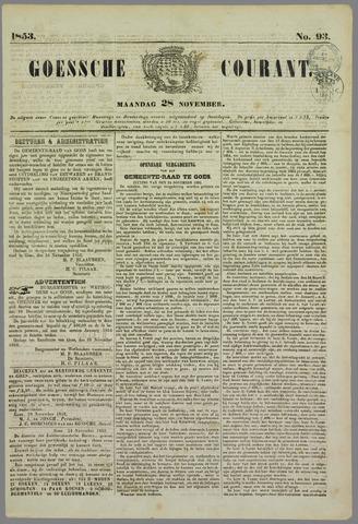 Goessche Courant 1853-11-28